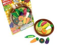 ブリスターパック消しゴム43種〜野菜バスケット 【単価¥197】10入