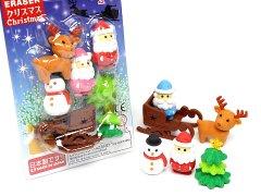 ブリスターパック消しゴム43種〜クリスマス 【単価¥197】10入