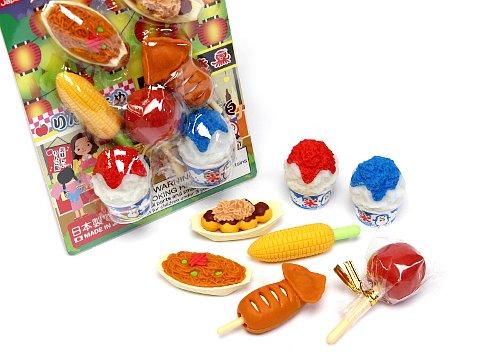 ブリスターパック消しゴム 祭 【単価¥197】10入
