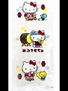 綿菓子袋(ロップ) 3個いりお祭りキティ 【単価¥31】100入