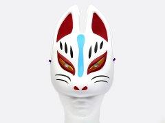 民芸品お面 狐半面(パッケージ入り) 【単価¥580】1入