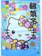 綿菓子袋(ロップ) 和柄キティブルー 【単価¥30】100入