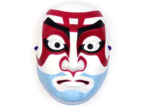 民芸品お面 歌舞伎隈取 弁慶 【単価¥895】1入