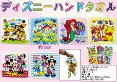 【お買い得】ディズニーハンドタオル 【単価¥76】12入