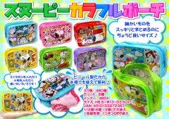 【お買い得】スヌーピーカラフルポーチ 2547【単価¥65】12入