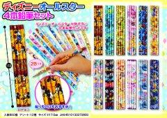 ディズニーオールスター 4本鉛筆セット 2598【単価¥29】25入