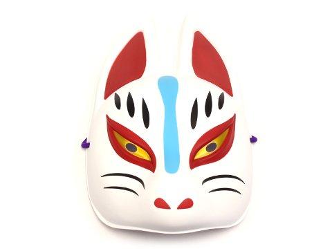 民芸品お面 狐 半面(白)(パッケージ無し) 【単価¥480】12入