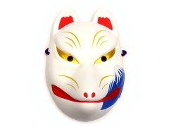 民芸品お面 狐面(富士山/白)(パッケージ入り)【単価¥580】1入