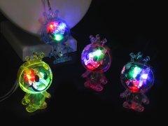 【お買い得】光るスマイル人形ペンダント 【単価¥18】36入