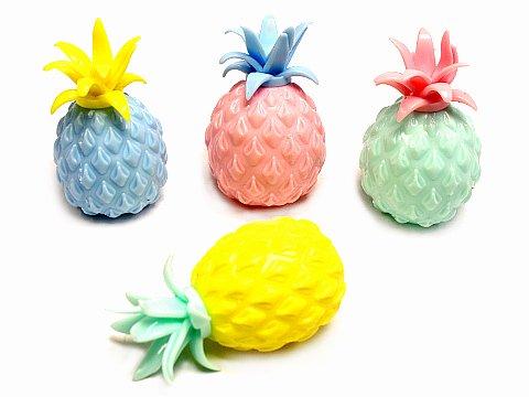 ぐにゃっとぷにょ玉ボール パイナップル 【単価¥59】24入