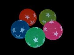 スーパーボール 32ミリ 夜光スター 【単価¥17.5】50入