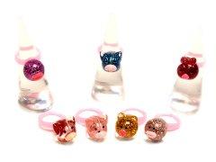 3Dまんまるアニマル指輪 【単価¥18】24入