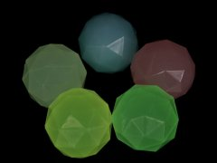 スーパーボール 光るクリスタル 32ミリ 蓄光タイプ 【単価¥18】50入