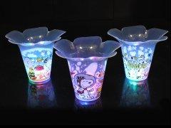 【お買い得】スヌーピー 光るフラワーカップ 【単価¥56】12入