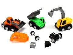 【お買い得】組み立て建設車 【単価¥58】9入