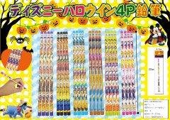 ディズニー ハロウィン4P鉛筆 【単価¥29】25入