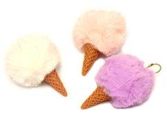 【現品限り・お買い得】アイスクリームモコボールチェーン 【単価¥22】12入