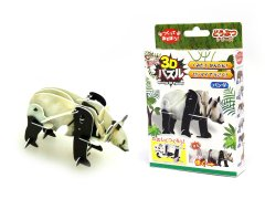 【お買い得】動く3Dパズル パンダ 【単価¥56】24入