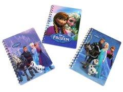 【お買い得】アナと雪の女王 ラメ入りWリングノート 【単価¥35】24入