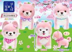 【入荷予定】豆しば三兄弟ほんわか桜色BIG  【予定単価¥935】4入
