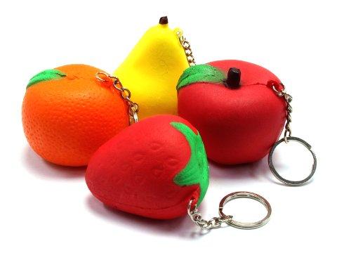 【お買い得】やわらかスクイーズ果物 【単価¥38】12入