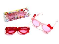 【現品限り・お買い得】キティかわいいメガネ 【単価¥84】10入