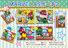 MARVEL A5ポーチ2 【単価¥58】12入