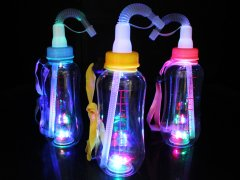 光る哺乳瓶ボトルストラップ ストロータイプ 400ml 【単価¥150】12入