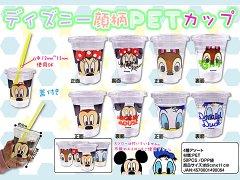 ディズニー顔柄 PETカップ 【単価¥23】50入