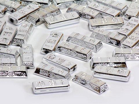 アクリル ABSインゴットシルバー(900) 505−995 【単価¥1500】1入 う12