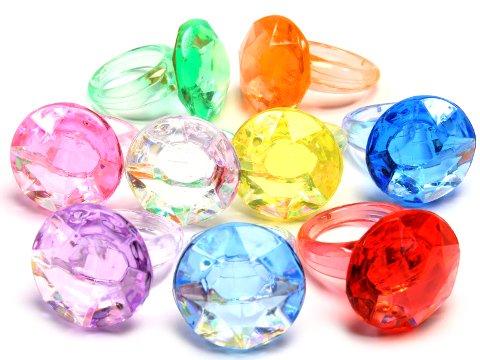 クラッシュアイス ダイヤリング10カラー 506−958 【単価¥900】1入