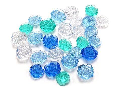 クラッシュアイス バラ ブルー系ミックス 506−323 【単価¥900】1入