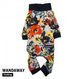 【WANDAWAY】つるつるロンパース・フラワー(FLW)