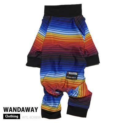 【WANDAWAY】つるつるロンパース(ボーダーレインボー)  WTL-BDRBW