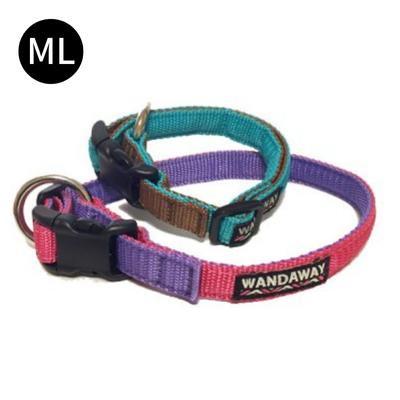 【WANDAWAY】小型犬用 丈夫で軽く水に強いPPクッション首輪♪ MLサイズ リードとお揃い