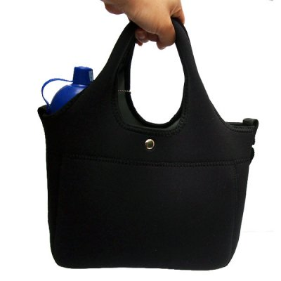 お散歩バッグネオプレーン・ブラック【E】ウェットスーツ素材の洗えるお散歩バッグ!テトラとセットで必須アイテム!ショルダーベルト、水に流せるティッシュ付き♪