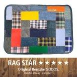 RAG★STAR ラグスター パッチワークカフェマット/ブルー(RS06-22)