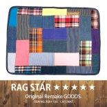 RAG★STAR ラグスター パッチワークカフェマット/ブルー(RS01-136)