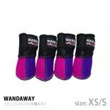 【WANDAWAY】ドッグブーツ� /4P・XS/Sサイズ(ピンク/パープル)