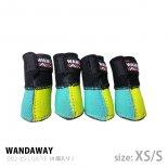 【WANDAWAY】ドッグブーツ� /4P・XS/Sサイズ(Lグリーン/イエロー)