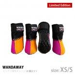 【WANDAWAY】【数量限定/受注生産】ドッグブーツ� /4P・XS/Sサイズ(ピンク/蛍光オレンジ)