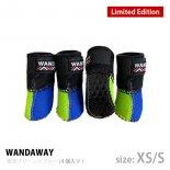 【WANDAWAY】【数量限定/受注生産】 ドッグブーツ� /4P・XS/Sサイズ(蛍光グリーン/ブルー)