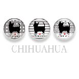 【WANDAWAY】シルエット缶バッチ/チワワ