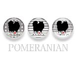 【WANDAWAY】シルエット缶バッチ/ポメラニアン