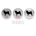 【WANDAWAY】シルエット缶バッチ/柴犬
