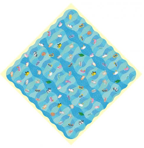 ウミウシの風呂敷(50cm)