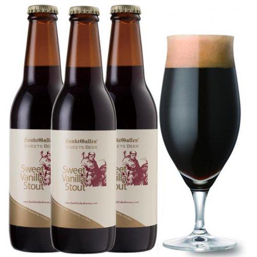 チョコビール【スイートバニラスタウト3本セット】 後味がバニラチョコの濃厚黒ビール <送料込>