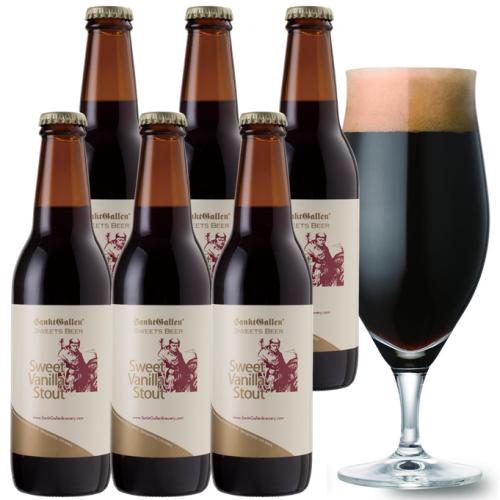 チョコビール【スイートバニラスタウト6本セット】 後味がバニラチョコの濃厚黒ビール <送料込>