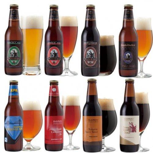 【 クラフトビール8種飲み比べセット<秋冬限定アップルシナモンエール入> 】 送料込み