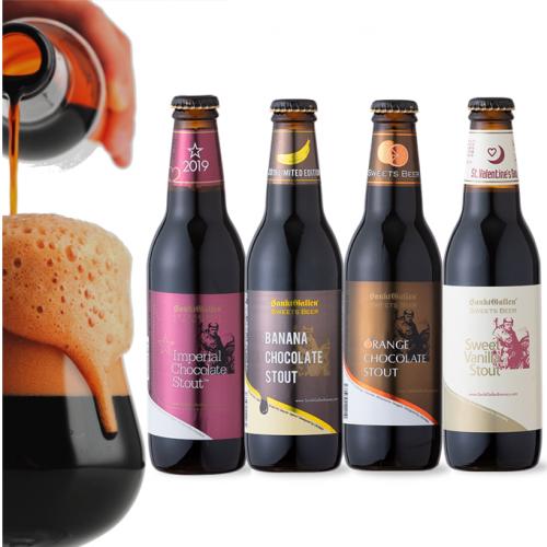 クール便送料込 【2014 チョコビール 4種セット】 専用ブラックBOXでお届け